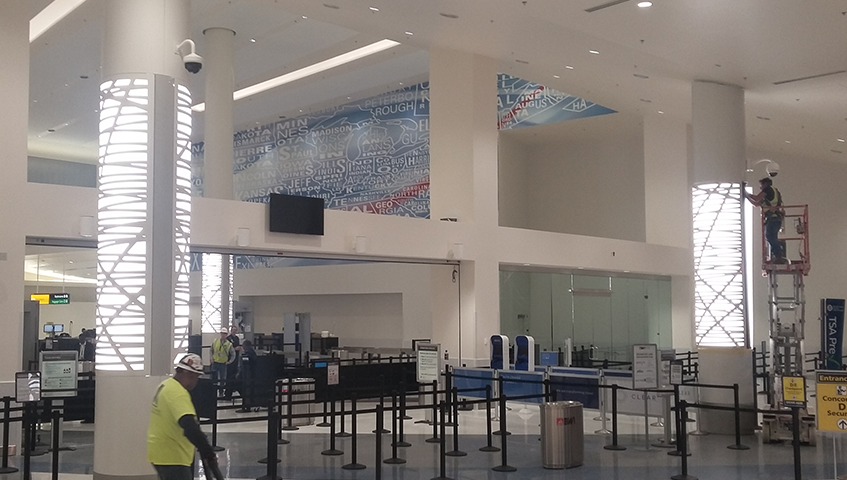 BWI Airport Custom Metal Column Wrap