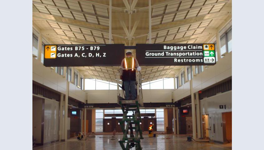 Dulles Interior Illuminated Sign