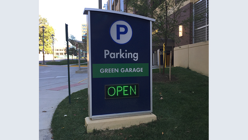 Exterior Freestaning Parking Sign