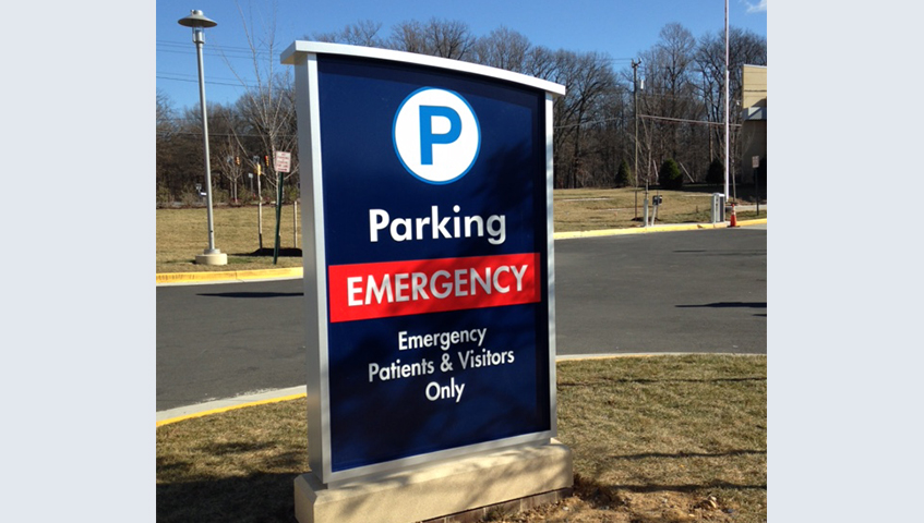 Exterior Freestanding Parking Sign