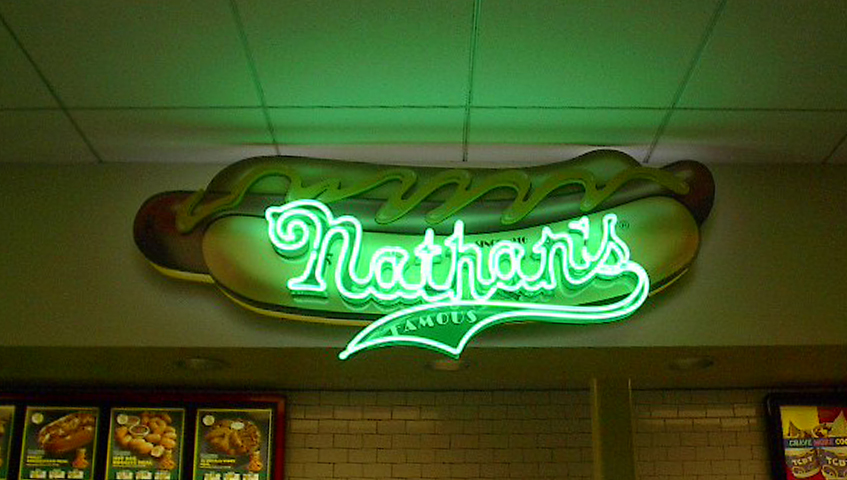 Nathan's Neon Sign