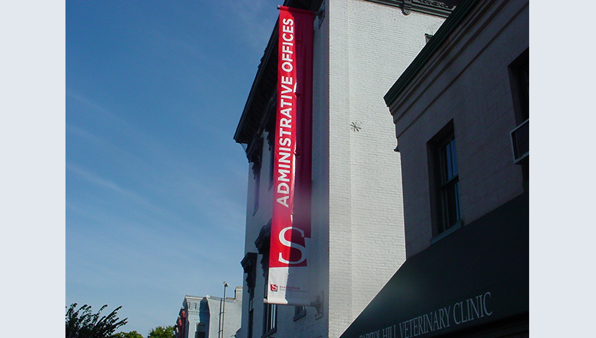 Shakespeare Theater Exterior Banner Sign