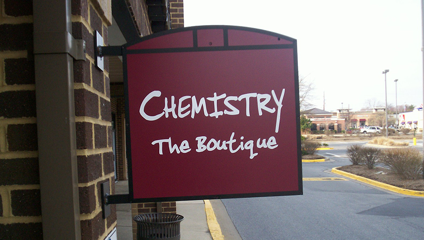 Chemistry The Boutique Exterior Blade Sign