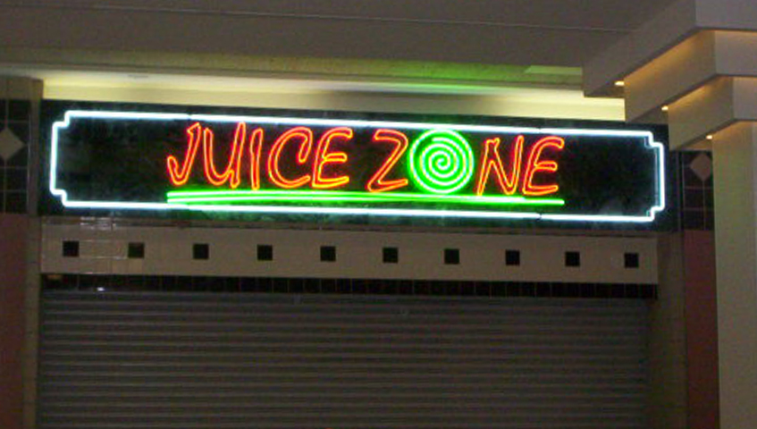 Juice Zone Exterior Neon Sign