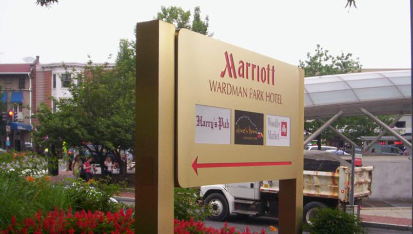 Marriott Exterior Sign Cabinets