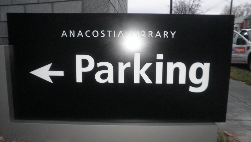 Anacostia Library Exterior Parking Sign