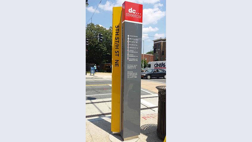 DC Streetcar Exterior Wayfinding Sign