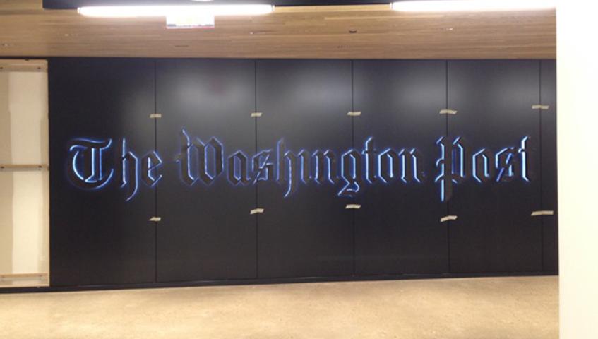 Washington Post Interior Illuminated Sign