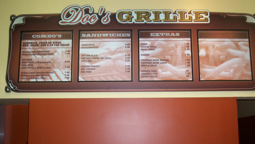 Docs Grille Interior Menu Board