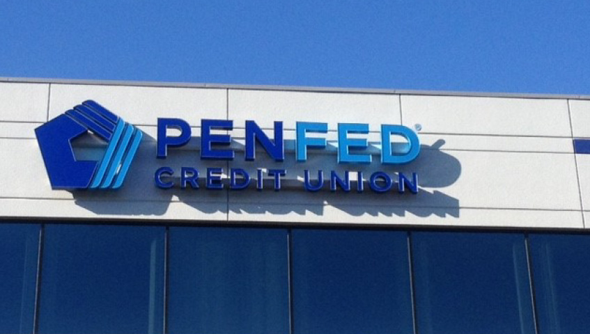 PenFed Credit Union Building Identification Channel Letters