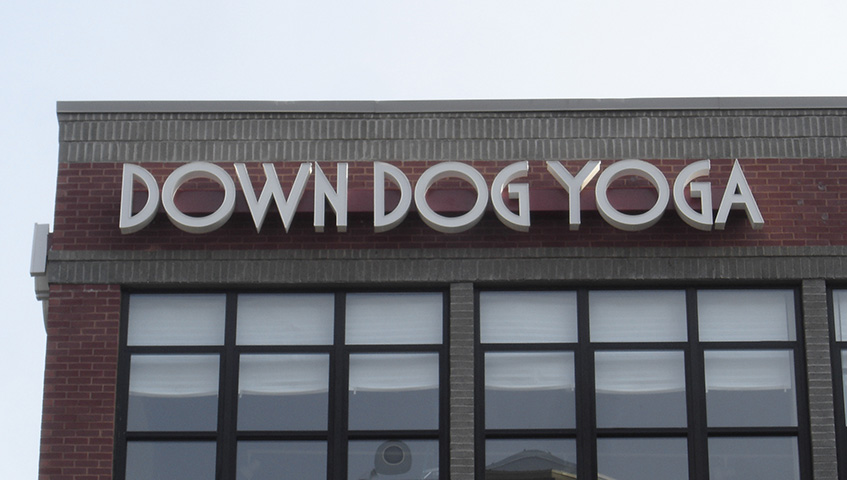 Down Dog Yoga Channel Letter