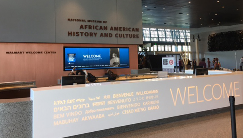 Front Desk Welcome Sign (national african american history museum, DC)