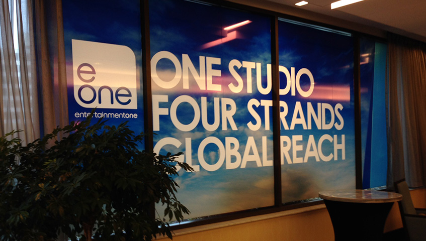 Entertainment One Studio Interior Wall Sign