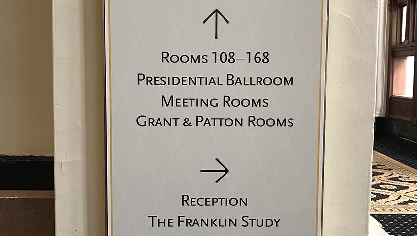 Trump International Hotel Wayfinding Identification Sign