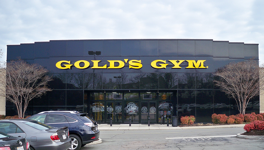 Golds Gym Exterior Channel Letters