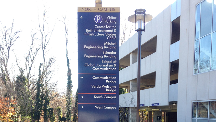 Morgan State University Parking Wayfinding Sign