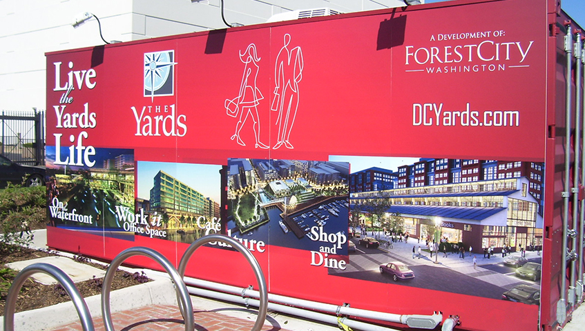 The Yard Vehicle Graphic Sign