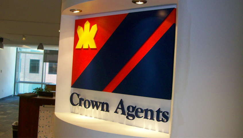 Crown Agents Architectural Sign