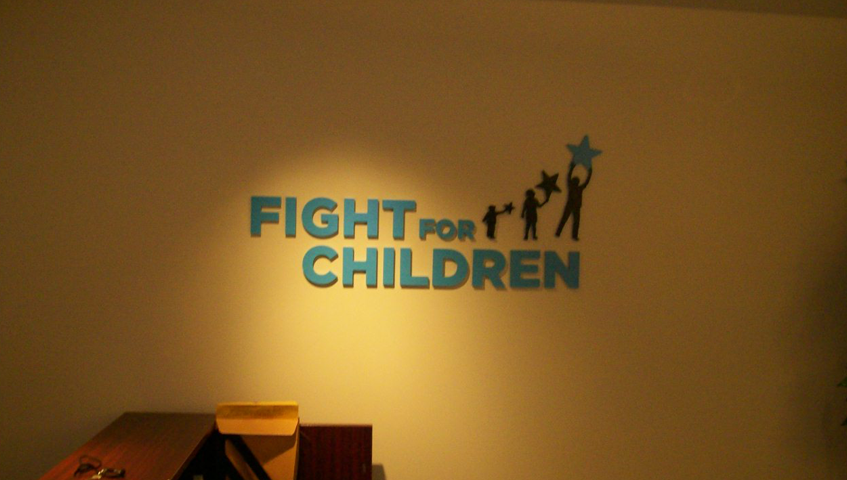 Fight For Children Wall Sign
