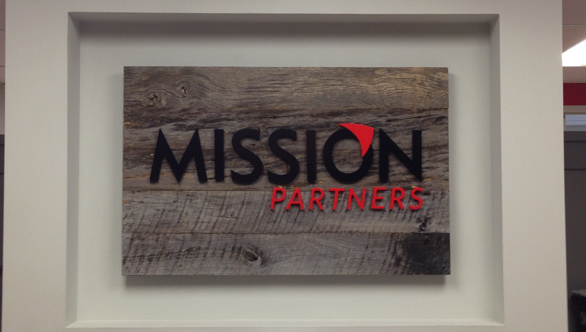 Mission Partners Architectural Sign