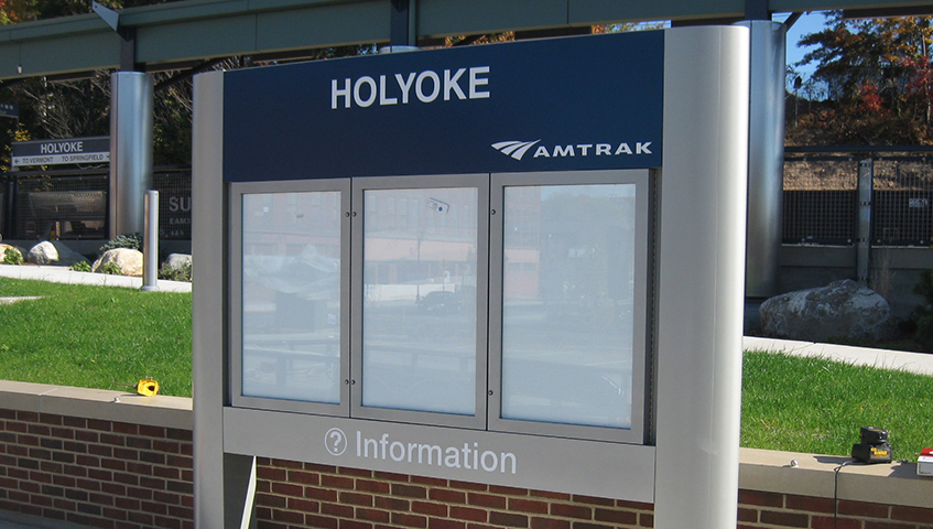 Holyoke Amtrak Freestanding Sign