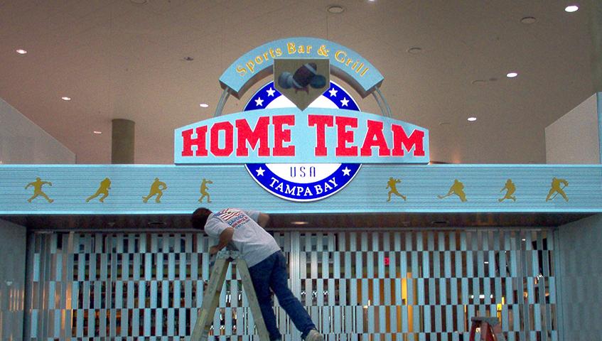 Home Team Bar Interior Identification Sign
