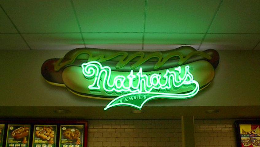 Nathan's Neon Sign
