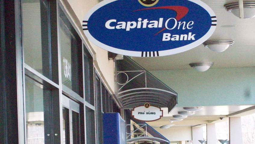 Capital One Exterior Blade Sign