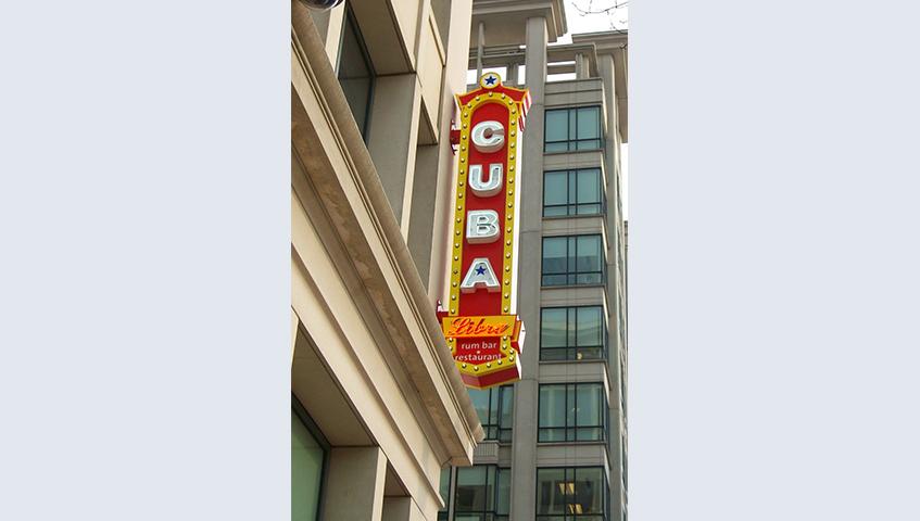 Cuba Libre Exterior Blade Sign