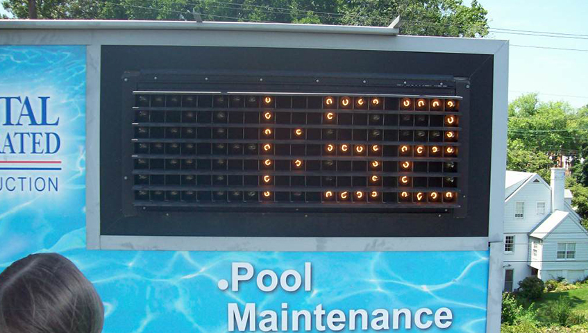 Pool Exterior Digital Sign