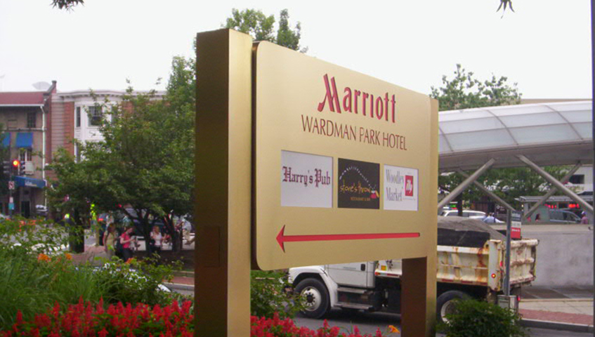 Marriott Exterior Sign Cabinets