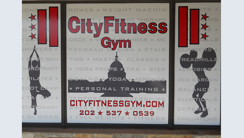 City Fitness Interior Promotional Sign