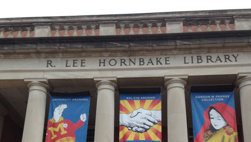LEE HORNBAKE LIBRARY (UNIVERSITY OF MARYLAND) BANNER SIGNS