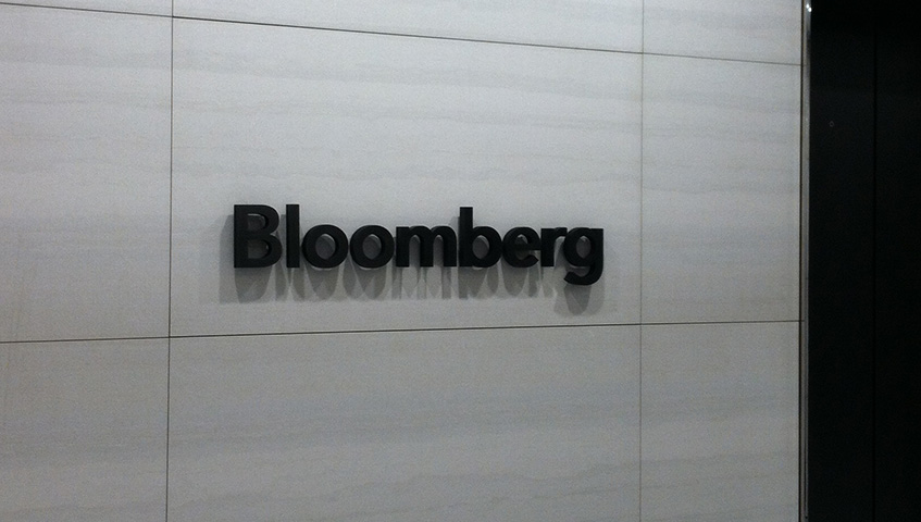 Bloomberg Office Lobby Sign (Washington, DC)