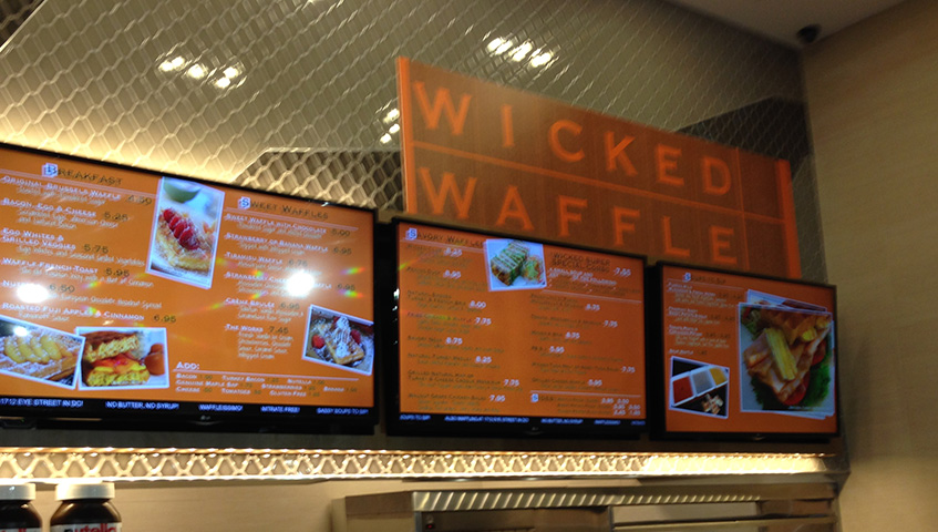 Wicked Waffle Digital Sign
