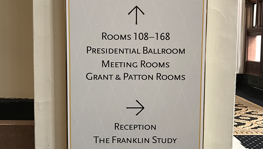 Trump International Hotel Wayfinding Identification Sign