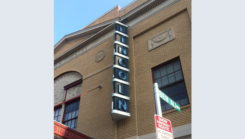 Licoln Theater Exterior Blade Sign
