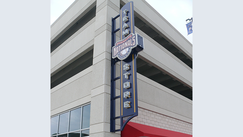 Nationals Stadium Exterior Blade Sign