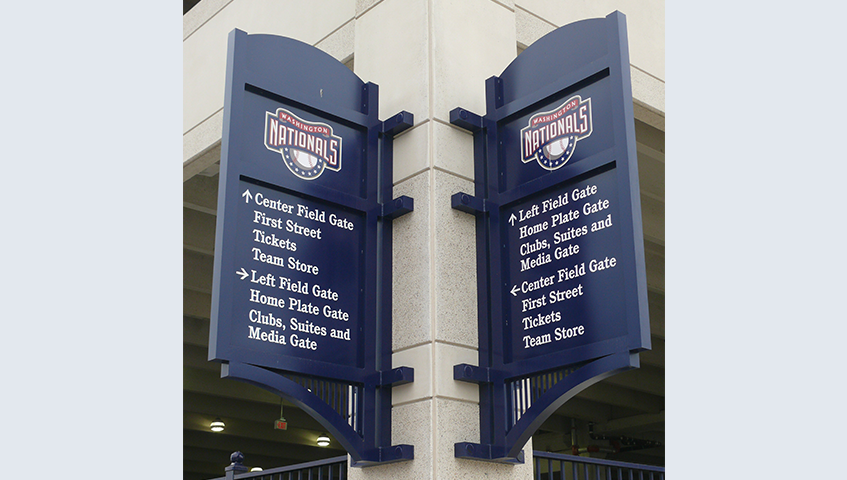 Nationals Stadium Exterior Blade Signs