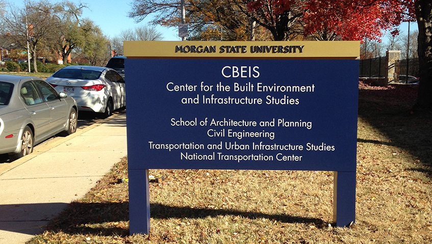 Morgan State University Freestanding Sign