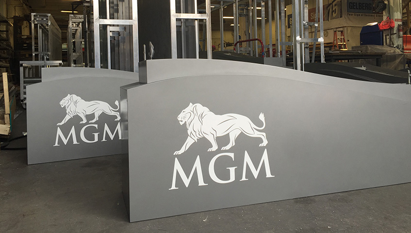 MGM (National Harbor) Sign Cabinet