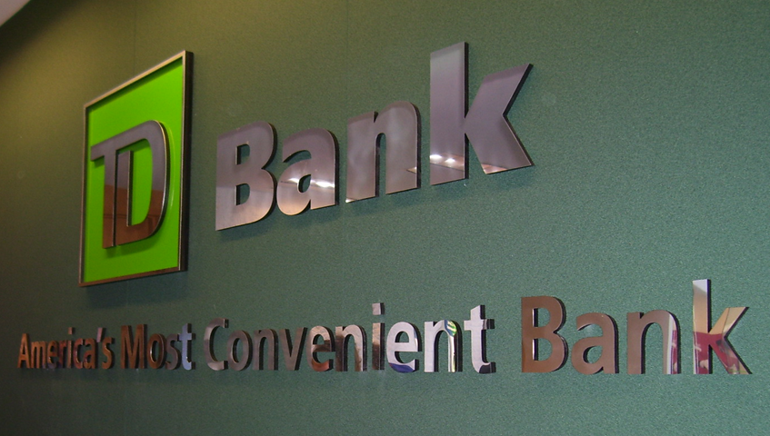 TD Bank Wall Sign