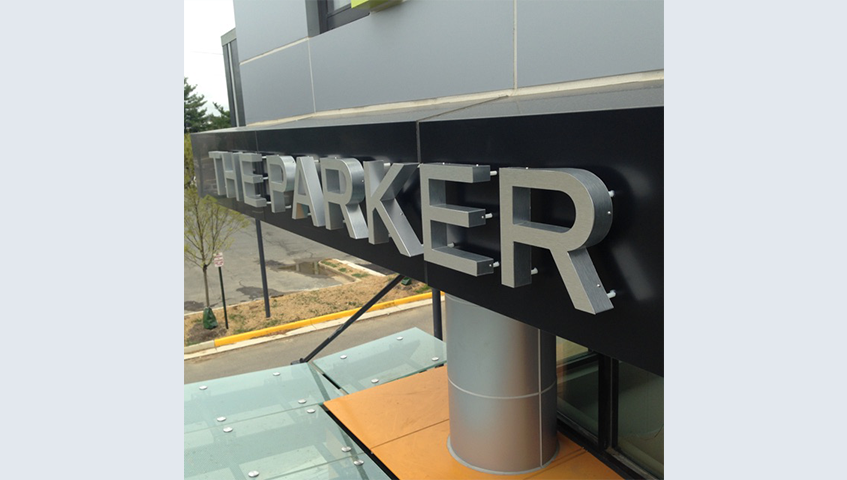 The Parker Halo Lit Channel Letters