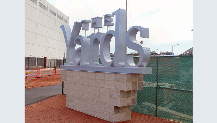 The Yard Exterior Freestanding Monument Sign