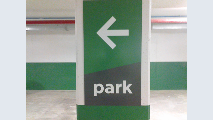 Wayfinding Parking Sign