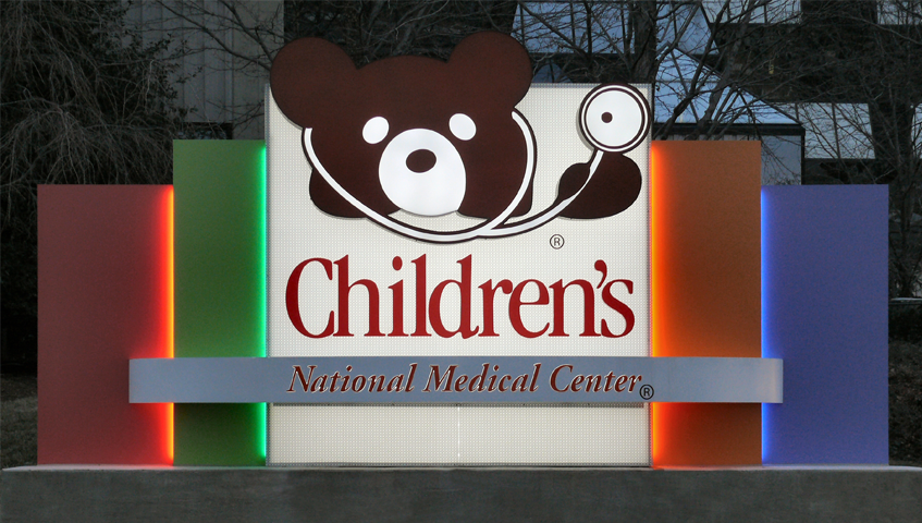Children's National Medical Center Freestanding Sign